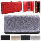 New Folded Glitter Faux Leather Ladies Women's Trifold Wallet Purse