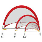 PRO Pop Up Soccer Goal Two Portable Soccer Nets W/ Carry Bag Sizes 2.5', 4', 6'