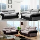 Juno Abbey 3 + 2 Seater Sofa Set Fabric Leather Grey Black Brown Coffee Mink
