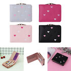 New Arrival Lovely Heart Pattern Bifold Wallet Leather Card Holder Purse