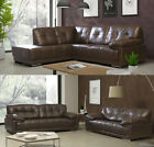 New Quality Newton Corner Sofa Bonded Leather Luxury LH RH Black or Brown