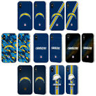 NFL LOS ANGELES CHARGERS LOGO SILVER FENDER CASE FOR APPLE iPHONE PHONES