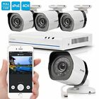 Zmodo 1080p 4CH PoE NVR Security System 720p Night Vision Outdoor Cameras No HDD