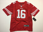 Joe Montana 16 San Francisco 49ers Mens Red 2017 Game Jersey NWT Football