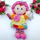 Baby Child Kid Adorable Rattle Crinkle Clanking Soft Toy Rag Jingle Sisters Doll