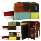 Women's New Multicolour Patch Genuine Leather Wallet Purse