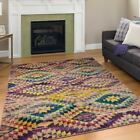 Modern Design Rio Multi Colour Area Rug Contemporary Style Rainbow Carpet Thin