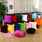 Solid Color Soft Plush Pillow Cover Shaggy Throw Pillowcase Cushion Home Decor