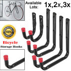 6x Assorted Storage Cycle Wall Hooks Mounted Ladder Garage Shed Garden Bike Tool