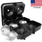 4 ICE Balls Maker Diamond Shape Tray Mold Cube Whiskey Ball Cocktails Silicone