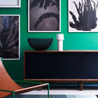 Lounge Wallpaper - Plain Emerald Green - Thick Washable  51115434 Paste The Wall