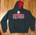 Rutgers University Scarlet Knights Pullover Hoodie Sweatshirt US Men Sz XL