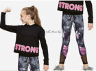 NWT JUSTICE Girls 10 14/16 Active Hooded Long Sleeve Tee & Mesh Leggings Set
