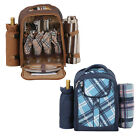 insulated picnic backpack - 4 Person Picnic Backpack Basket w/ Insulated Compartment to Keep Food Chilled