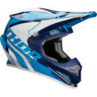 Thor Adult  Youth Blue Navy White Sector Ricochet Dirt Bike Helmet MX ATV 2018
