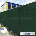 5'x10' Feet Fence Screen Cover Mesh Windscreen Fabric Privacy Shade Mesh W/Zip