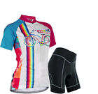 Women Sports Team Cycling Jersey Sets Bike Bicycle Top Short Sleeve Clothing Set