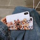 For iPhone X 6 6S 7 8 Plus Shockproof Cut 3D Dogs Soft Rubber Case Full Cover