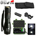 10000LM Tactical 18650 Power LED Flashlight XM-L T6 Zoomable Lamp+Battery Kit