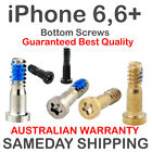 2X iPhone 6 6+ Plus Bottom Screws Pentalobe Pair Set Grey Black Gold Silver +