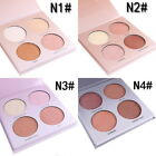 4 Color Pro Glow Bronzer Highlighter Makeup Face Glitter Palette Beauty Kit