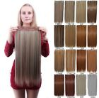Fashion Women Long Straight Synthetic 5 Clips Clip in on Hair Extensions Piece