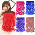 Colorful Cosplay Long curly Wavy Clip in Hair Extensions Piece 3/4 full head