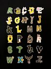 Sew on & iron on  patches(animal alphabet letter)