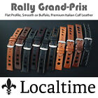 Rally Grand Prix Watch Strap Premium Calf Leather Flat & Smooth 18 20 22 24mm