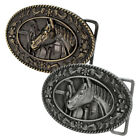 Buckle Rage Women's Oval Horse Head Stable Tack Saddle Equestrian Belt Buckle
