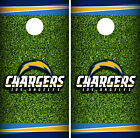 Los Angeles Chargers Field Cornhole Wrap Skin Game Board Set Vinyl Decal CO17 $59.95 USD on eBay