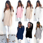 black v neck sweater women - Women V Neck Sweater Jumper Oversized Baggy Long Sleeve Tops Pullover Knitwear