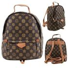 New Floral Print Faux Leather Designers Ladies Backpack