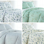 Luxury 100-percent Cotton Sateen Floral Printed  Duvet Cover Set  image