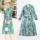 Luxury Women Dress 2018 Summer Dresses Occident Long Sleeves Print Wholesale New