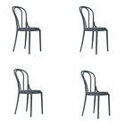 Sophia Dining Chairs (x4) | Dark Grey | Traditional / Bistro Styling | 11612