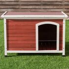Wooden Pet Dog Cat House Shelter Large Kennel Weather Resistant Indoor/Outdoor