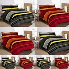 Benjamin Striped Duvet Cover Set With Pillowcases All Size Available
