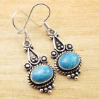 CABOCHON GREEN ONYX & Other GEMSTONES Choice ! 925 Silver Plated ETHNIC Earrings