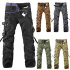 Mens Military Army Combat Trousers Tactical Airsoft Work Camo Cargo Long Pants