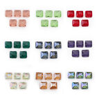 14mm Faceted Square Glass Crystal Diagonal Hole Square Spacer Beads DIY Makings