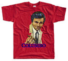 Columbo V2, movie poster, T SHIRT WHITE RED BLUE all sizes S to 5XL