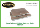 SCRUFF'S INSECT SHIELD MATTRESS, PET BED, INBUILT PROTECTION, WASHABLE - MEDIUM