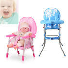 Adjustable Baby High Chair Infant Toddler Feeding Booster Seat Folding Chair US