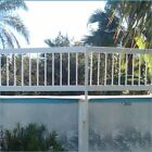 Above Ground Swimming Pool White Resin Safety Fence - (Choose by Sections)