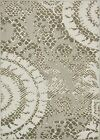 Beige Carved Modern Area Rug Cream Transitional Brown Carpet Contemporary