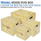 Yes4All Fitness Wooden Plyo Box Exercise Workout Jump Training with 4 Sizes image