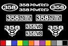 358 V8 POWERED 10 DECAL SET BORED 351 ENGINE STICKER EMBLEM FENDER BADGE DECALS