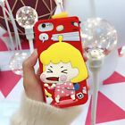 3D Cartoon Kwai Sister Silicone Shockproof Protection Case For iPhone X 8 7 6S 6