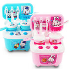 1Set Mini Kitchen Food Cooking Pretend Play Toy For Girl Kids Deluxe Toddler HOT
